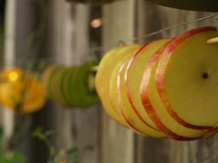 weihnachtsschmuckbasteln mit naturmaterialien proyes des trocknens