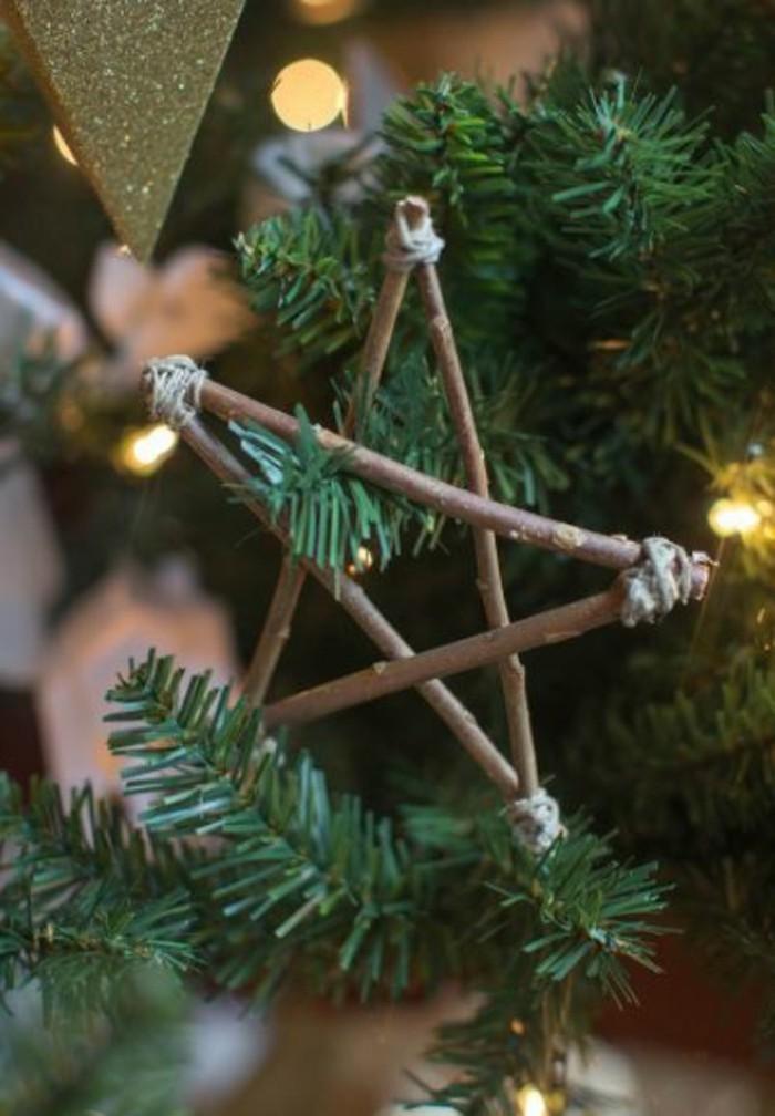 weihnachtsschmuck basteln mit naturmaterialien stern