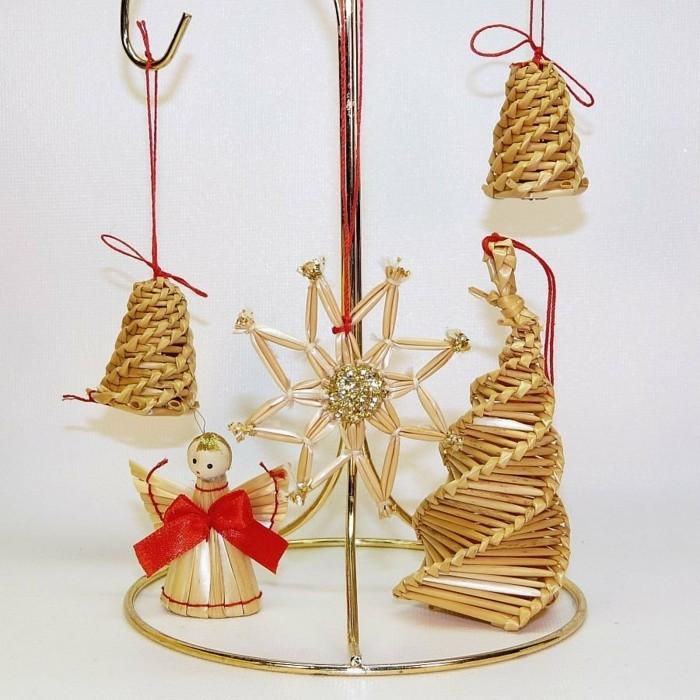 weihnachtsschmuck basteln mit naturmaterialien weihnachtskekse christbaumschmuck strohstern
