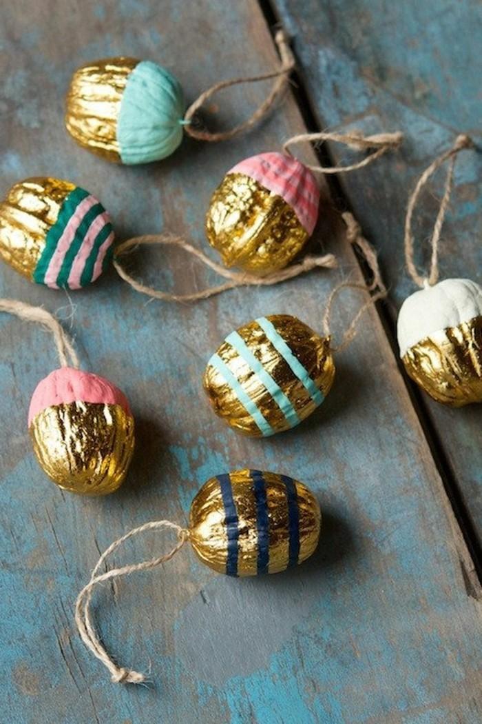 weihnachtsschmuck basteln mit naturmaterialien weihnachtskekse gold