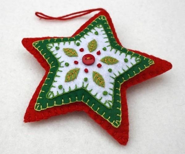 weihnachtsstern aus filz weihnachtsdeko selber basteln