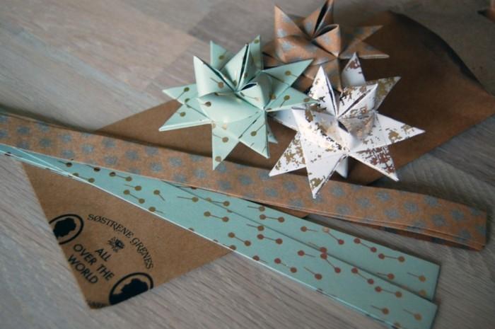 weihnachtssterne selber machen aus papier fröbelstern basteln