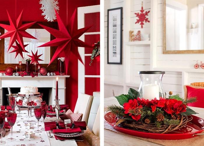 weihnachtstischdeko weihnachtssterne aus papier weihnachtskranz tischdeko ideen