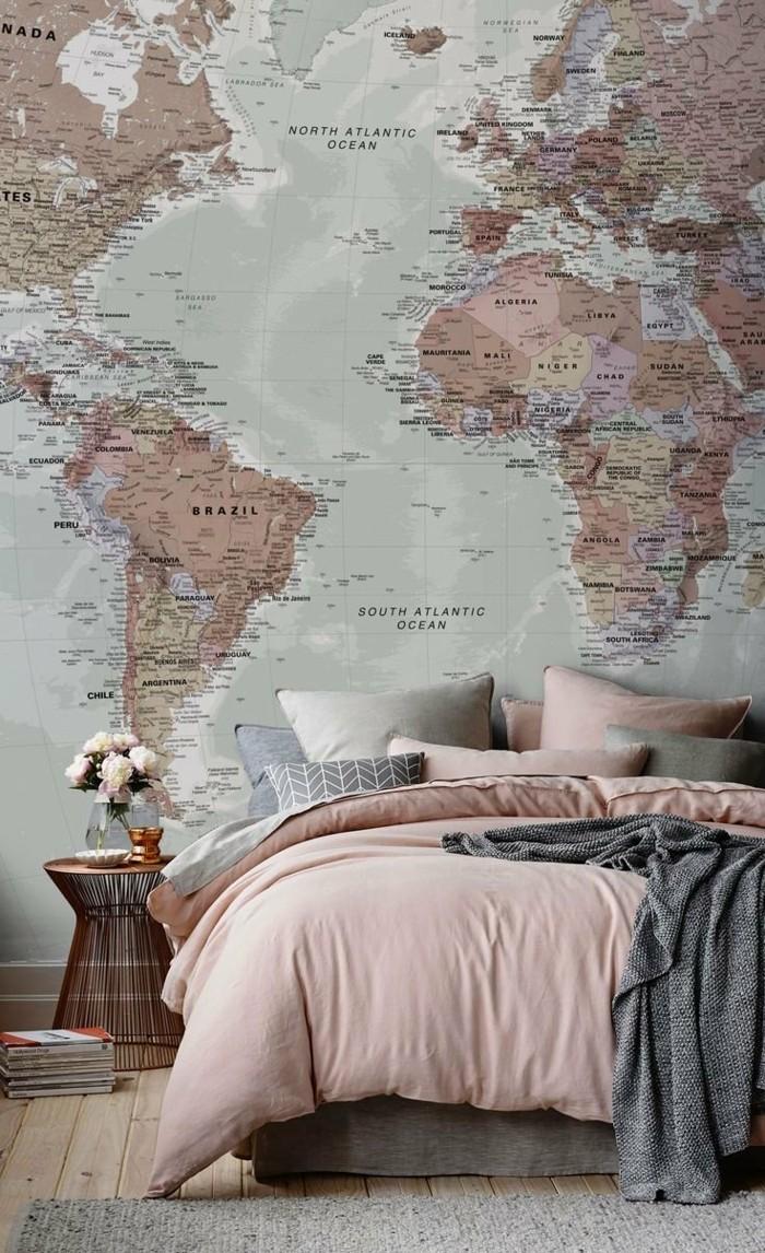weltkarte wand 73 beispiele dass weltkarten dynamik in die innengestaltung bringen. Black Bedroom Furniture Sets. Home Design Ideas