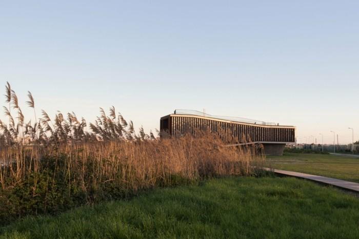 Aussicht aus der Ferne moderne Architektur
