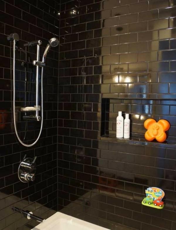Badezimmerdesign klassisch dunkel