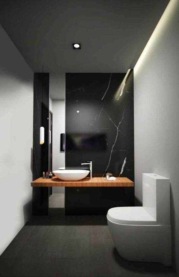 Badezimmerdesign schwarze und weiße Flächen