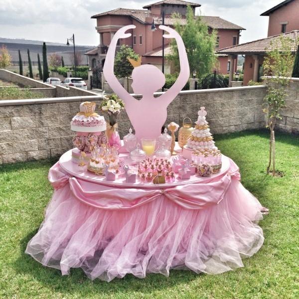 Ballerina Tisch Kinderparty deko