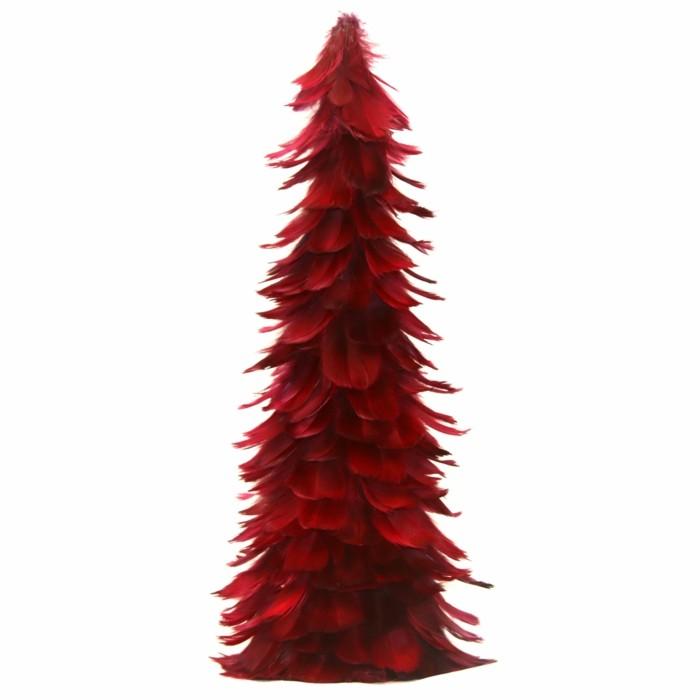 Bordeaux Farbe Feder Weihnachtsbaum