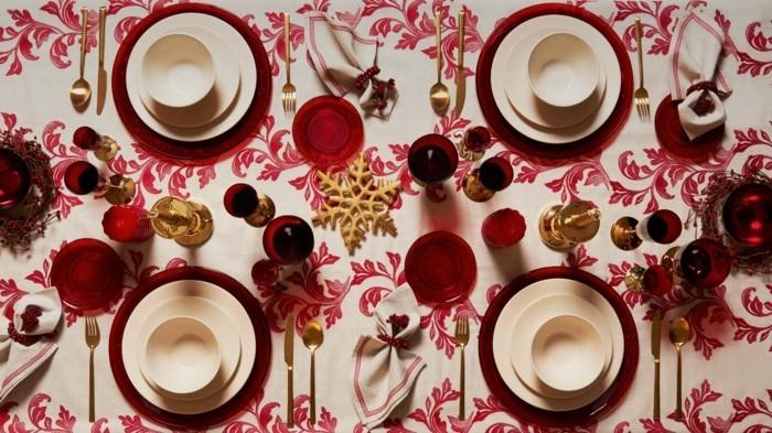 Bordeaux Farbe Tischset