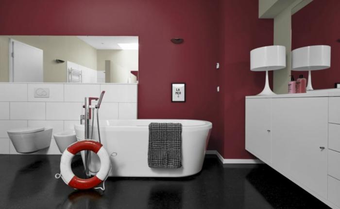 Bordeaux farbe und ihre wirkung im bezug auf raumgestaltung - Wandfarbe bad ...