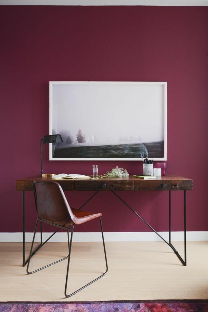 Bordeaux Farbe Wandfarbe