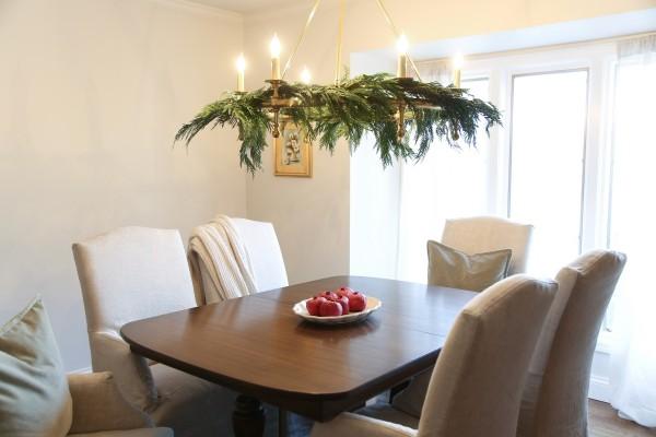 Esszimmer dekorieren Weihnachtsbeleuchtung schön