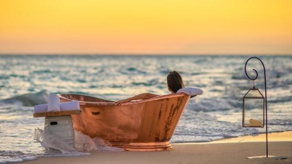 Faulenzen Insel Thanda Stress abbauen Meerespanorama genießen