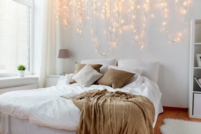 Festliches Ambiente Schlafzimmer