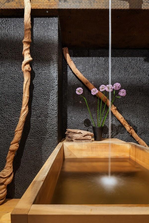 Fung Shui asiatisches Bad Bambus