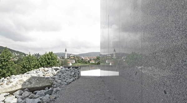 Granitplatten moderne Häuser bauen an einem kleinen Ort