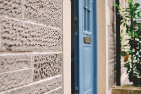 Granitplatten moderner Eingang