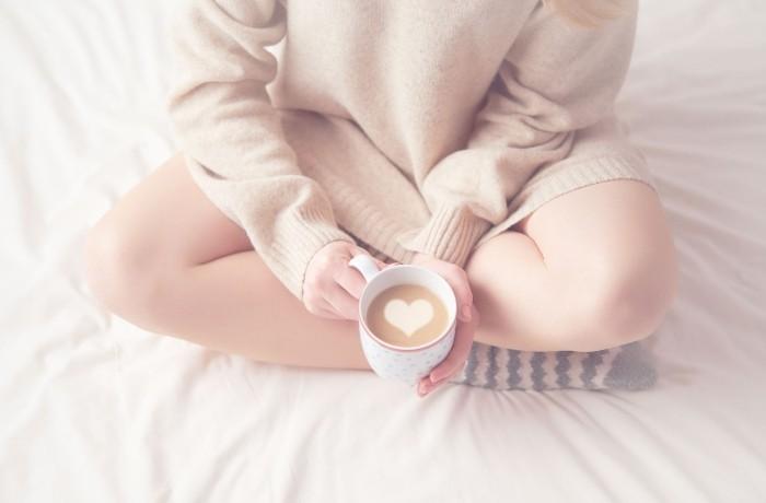 Guten Morgen Routine Kaffee Cappuccino
