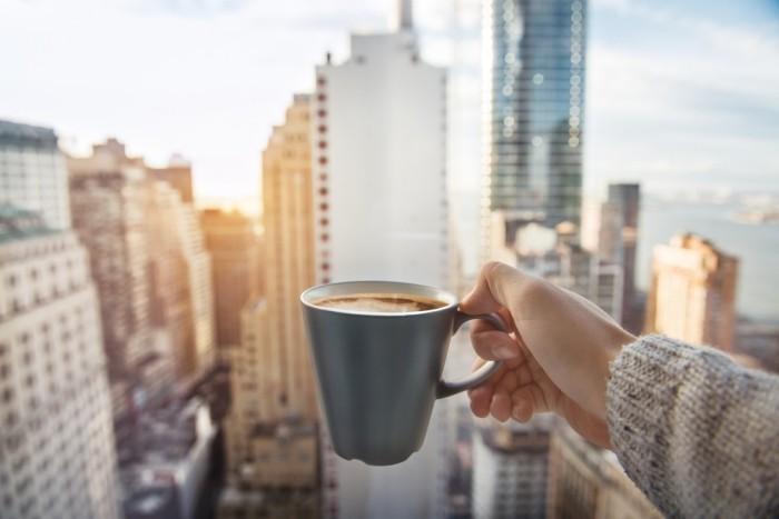 Guten Morgen Routinen Kaffee