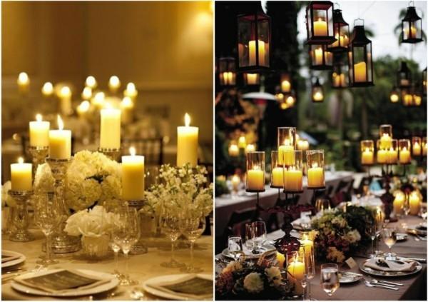 Hochzeitsdeko mit Kerzen gestalten