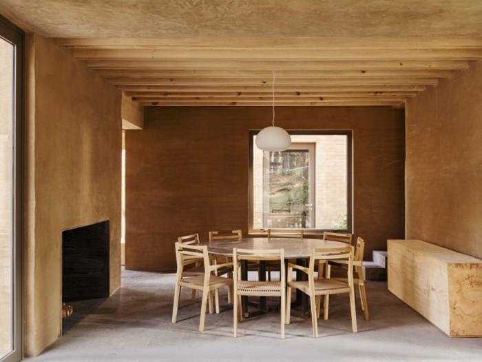 Innengestaltung Esszimmer moderne Architektur