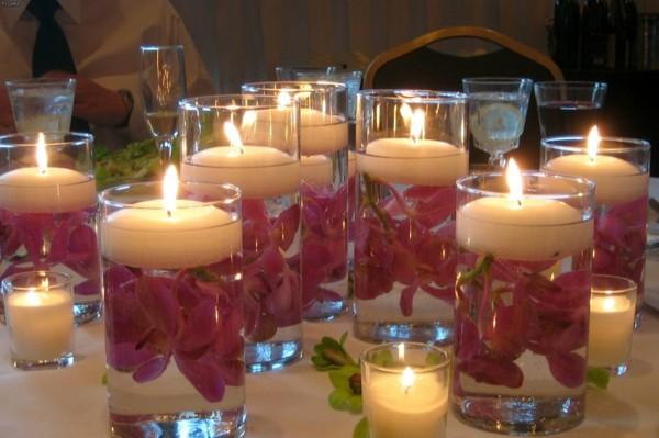 Kerzen gestalten in Wasser