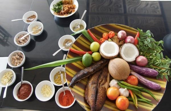 Malediven Urlaub Fischspezialitäten frisches Gemüse