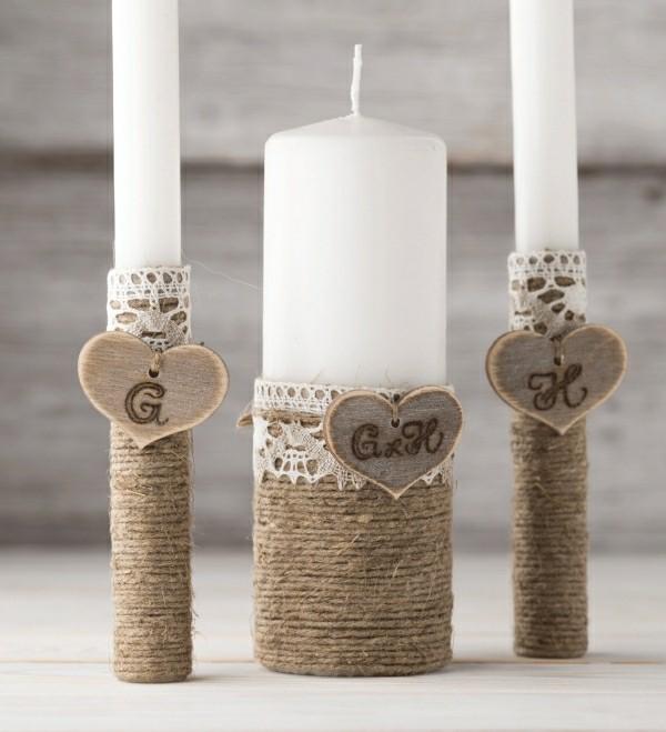 Metallic Schattierung Kerzen gestalten