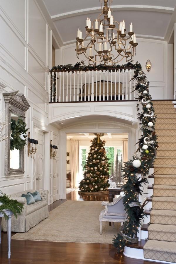 Modern Weihnachtsdeko Treppenhaus