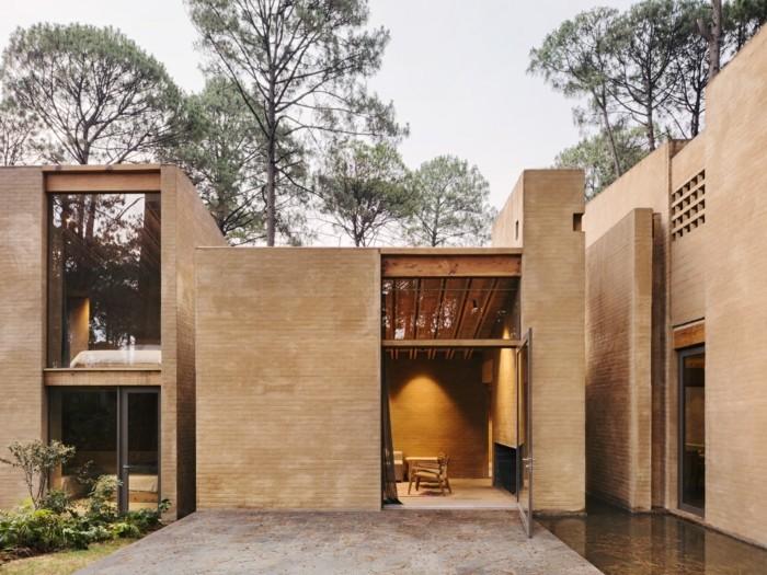 Moderne Häuser Inspiration Backstein