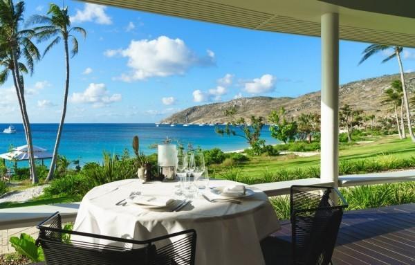 Panoramablick azurblaues Meer vorzügliches Essen Trauminseln