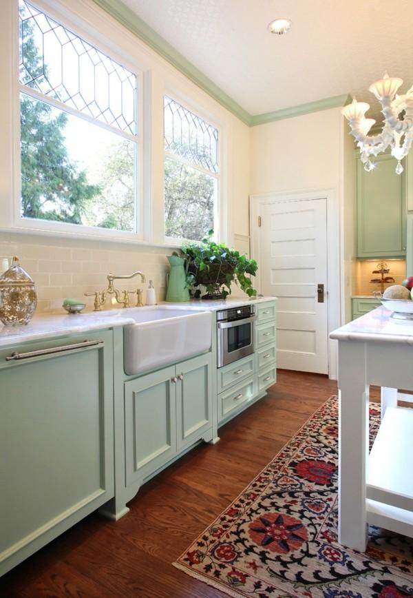 Pastellgrün Inneneinrichtung tolle Küche