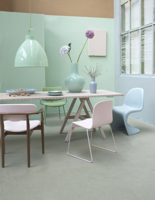 Pastellgrün Wandfarbe tolle Details