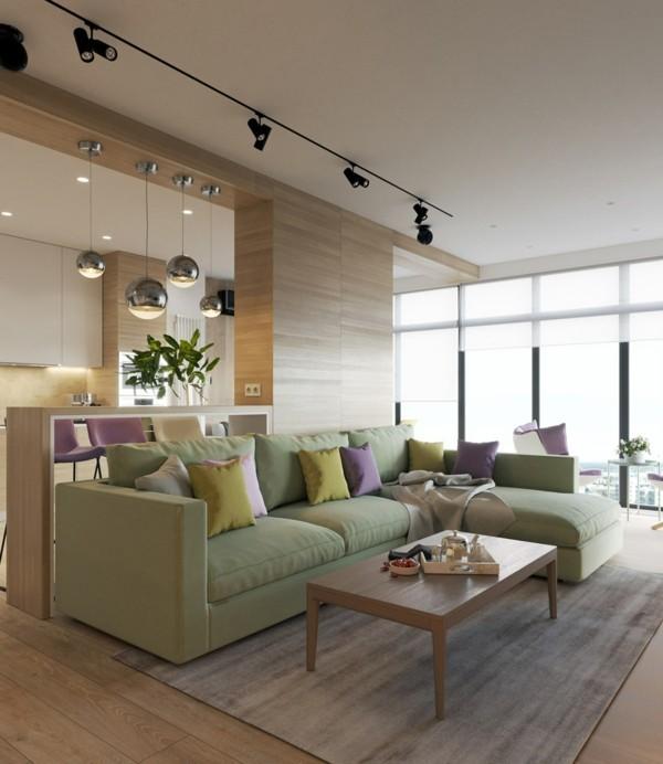 Pastellgrün Wandfarbe tolle Möbel