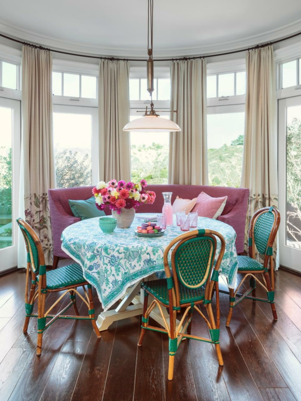 Pastellgrün Wohnideen Dekoration mit Textilien