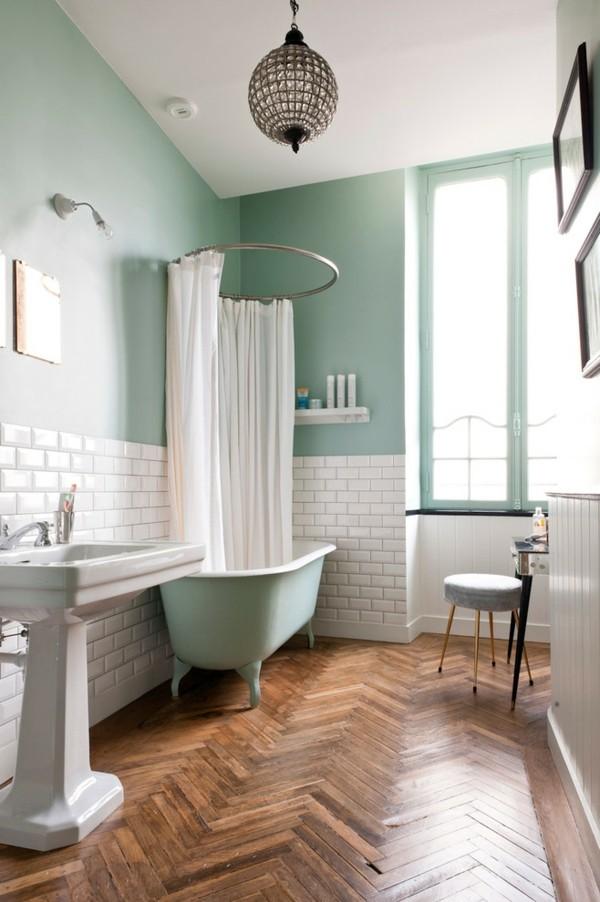 Pastellgrün Wohnideen Kontraste in Braun und Grün