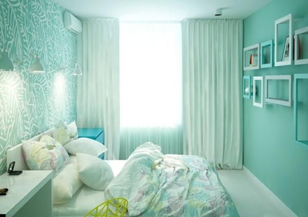 Pastellgrün Wohnideen gemütliches Schlafzimmer