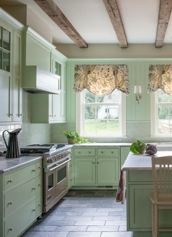 Pastellgrün Wohnideen schöne Kücheneinrichtung