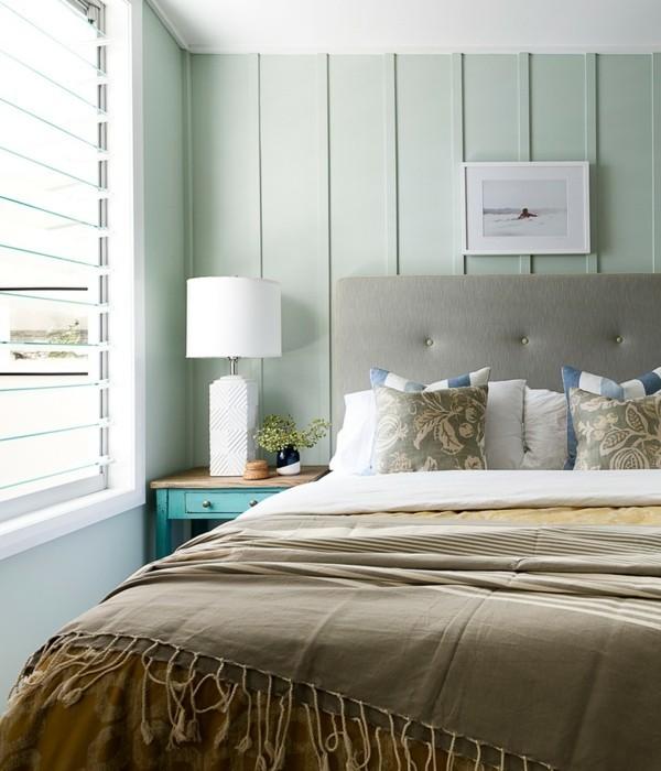 Pastellgrün Wohnideen schöne Stimmung im Wohnzimmer