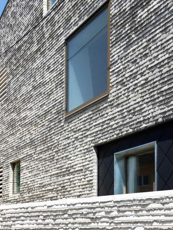 Quadratische Fenster Granitplatten Fassadenplatten