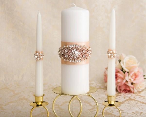 Rosa und weiß Kerzen selber machen