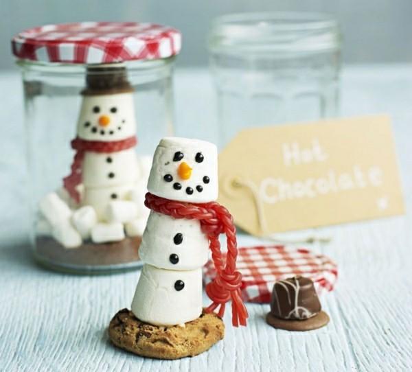 Schneemänner geschenke aus dem glas weohnachtsgeschenke