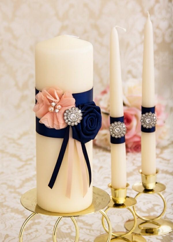 Schwarz-weiß und Rosa romantische Kerzen selber machen