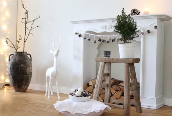 Kaminkonsole weihnachtlich dekorieren tolle optionen for Skandinavisches design deko
