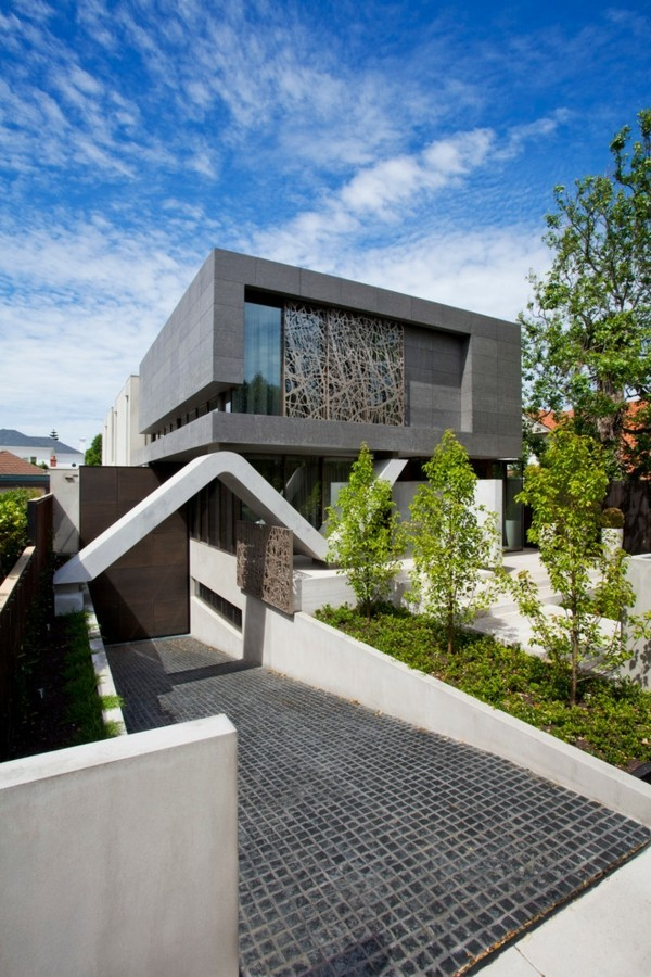 Stein Konstruktion Granitplatten moderne Häuser bauen