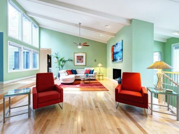 Toller Hintergrund für starke Kontraste Pastellgrün Wohnideen