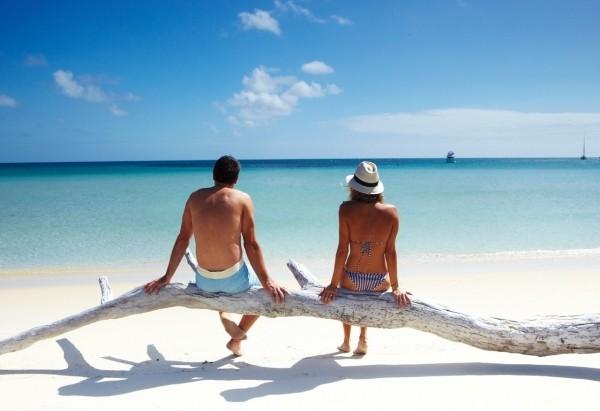 Trauminseln idealer Urlaubsort verliebte Paare