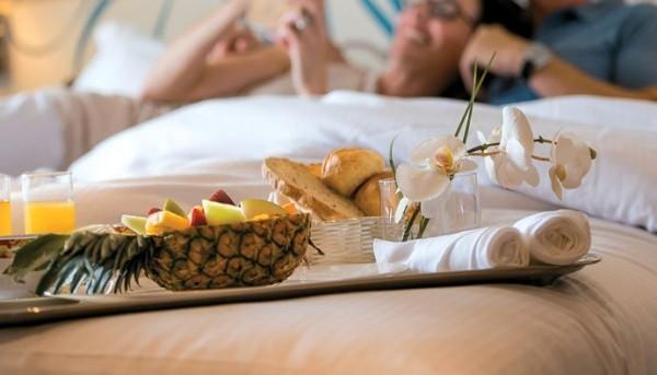 Trauminseln sich verwöhnen frühstück im Bett