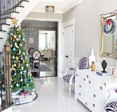 Treppenhaus Weihnachtlich Dekorieren Und Die Gäste Willkommen Heißen